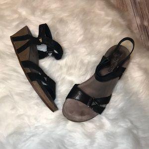 Mephisto Cork Wedge Sandals
